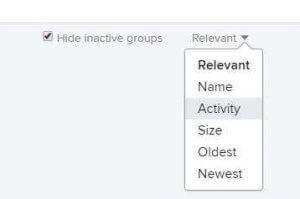 Сортировка групп в поиске Flickr